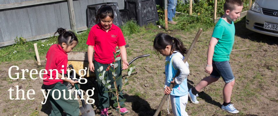 Greening the young