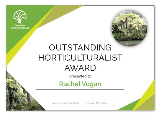 Outstanding Horticulturalist